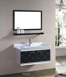 Wall Mounted Sliding Door Bathroom Vanity (A6389) pictures & photos