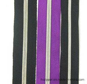 Silver Teeth Nylon Zipper Roll, Long Chain Nylon Zipper