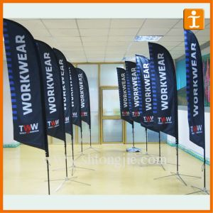 Top Quality Promotional X Cross Base Custom Beach Flag (TJ-24) pictures & photos