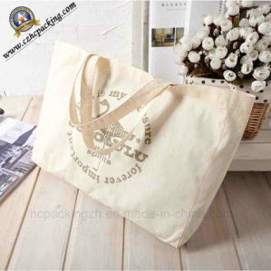 Fashion Thin Raw Cotton Shopping Bag with Logo Printing (HC00150724004) pictures & photos