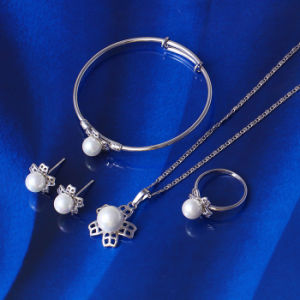 2016 Popular Christmas Gift Cute Pearl Baby Jewelry Set (61381) pictures & photos