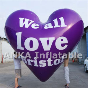 LED Balloons Inflatable PVC Material Heart Balloon pictures & photos