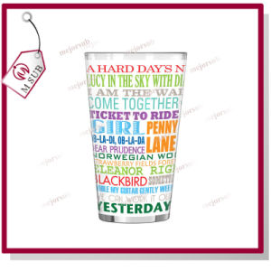 17oz Sublimation Pint Glass Mug with White Patch pictures & photos