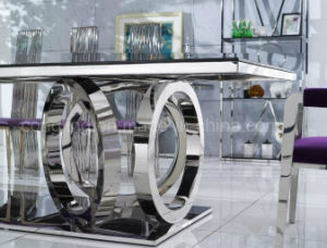 Modern Design Glass Dining Table for Living Room Furniture (A8068) pictures & photos