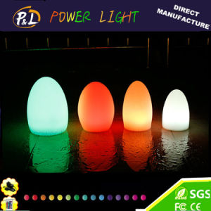 Color Changeable Illuminated Plastic LED Egg Lamp pictures & photos