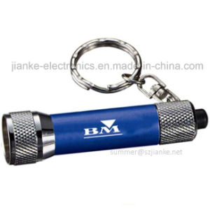 Blue LED Promotional Flashlight Torch Keychains with Logo Printed (4070) pictures & photos