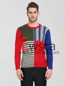 Men′s Color Patterns Pure Cashmere Sweater