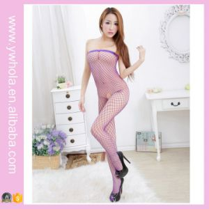 Sexy Lace Fishnet Transparent Women Bodystocking Showing Nipple Erotic Stocking pictures & photos
