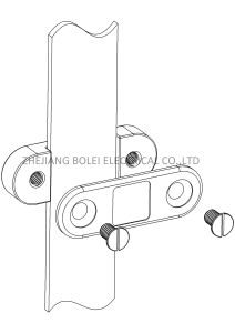 Copper/Aluminium DC Tape Clip Earthing Grounding Bond Clamps OEM Acceptable pictures & photos