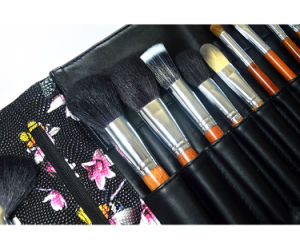 Fashion Pattern 25 PCS Professional Cosmetic Brush Original Wood Color Handle Makeup Brush pictures & photos