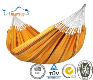 Portable Single Camping Hammock with Hanging Strap and Durable Cotton pictures & photos