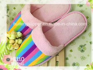 New Fashion Woman Slipper Lovely Pink Velvet Hotel Slippers