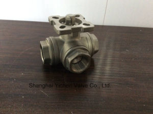 Tee Threaded Ball Valve Q14 (5) F pictures & photos