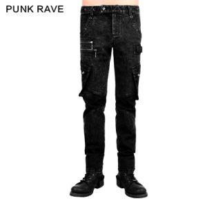 2015 Autumn New Design Punk Rave Black Man Pants (K-224) pictures & photos