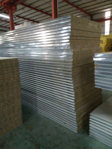 Fireproof&Waterproof Rock Wool Sandwich Panels for Factories, Buildings, Warehouses, Cold Rooms pictures & photos