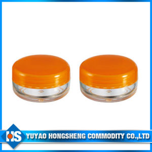 Small Baby Plastic Cosmetic Jar with Orange Cover (PJ-006) pictures & photos