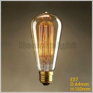 St64 E27 110V 220V Vintage Edison Bulb Incandescent Light Bulbs pictures & photos