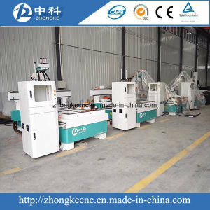Three Heads CNC Router Machine for Woodworking pictures & photos