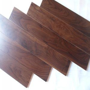 Floating Syetem Black American Engineered Walnut Wood Floorings pictures & photos