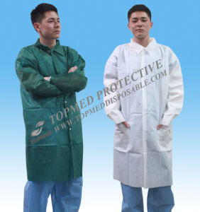 Nonwoven PP Visitor Coat, Disposable Single Use Visitoc Coat pictures & photos