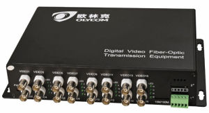 16CH Video + 1CH RS422 Data Optical Video Transmitter pictures & photos