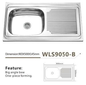 Kitchen Sink Good Quality Single Bowl Wls9050b