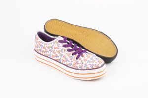 Lady Fashion Casual Platform Canvas Shoes with Rubber Outsole pictures & photos