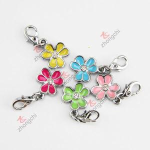 Flower Enamel Charms for DIY Bracelet (CB)