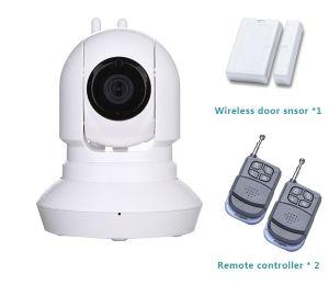 Night Vision P2p Camera Home WiFi Security Alarm System with PIR Motion Sensor
