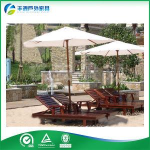Teak Garden Furniture, Outdoor Furniture - Ergonomical Lounger with Armrests (FY-006CB)