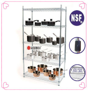 NSF Metal Chrome Restaurant Kitchen Shelving pictures & photos