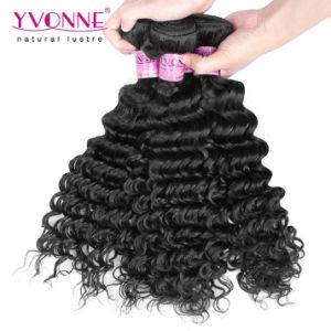 Indian Deep Wave Remy Human Hair Weft pictures & photos