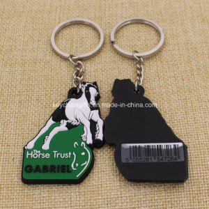 Wholesale Cheap Custom Horse PVC Rubber Keychain pictures & photos