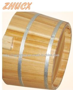 Round Wooden Foot Tub Foot Bath Barrel Wooden Barrela pictures & photos