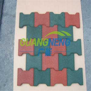 Best Seller Playground Rubber Tile, Dog-Bone Rubber Tile, Rubber Stable Tiles Wearing-Resistant Rubber Tile, Playground Anti-Slip Rubber Flooring pictures & photos