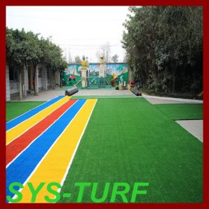 Rainbow Grass Artificial Turf for Kindergarten Flooring pictures & photos
