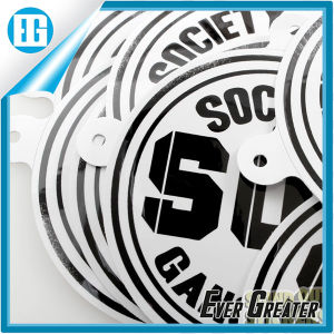 Black and White Two Colors Custom Text Logo Round Sticker pictures & photos