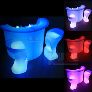 Portable Plastic RGB Glow Modern LED Bar Glass pictures & photos