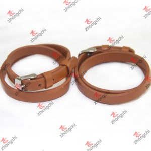 Simple Brown 8mm Leather Bracelet for Kids Bracelet Jewelry (LB151107) pictures & photos