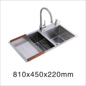 Kitchen Stainless Hand Made Sink (8145s) pictures & photos
