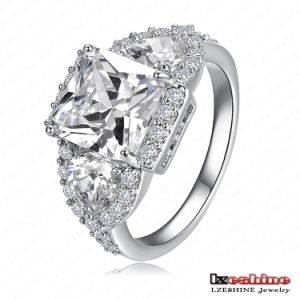 18k White Gold Plated Copper Wedding Ring for Women (CRI0005-B)