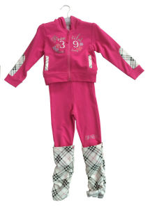 Fashion Girl French Terry Suit in Children Clothing Sport Wear (SWG-116) pictures & photos