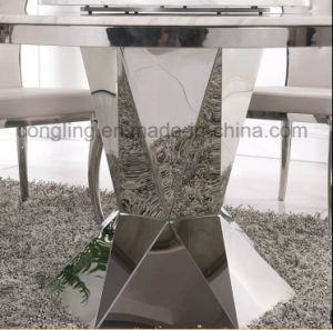 Modern Designs Top White Marble Dining Table for Sale pictures & photos
