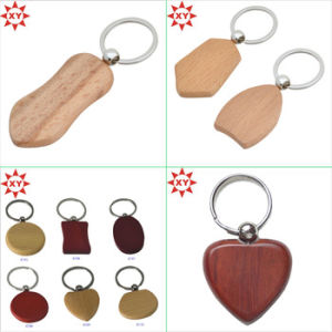 Promotional Round Blank Wooden Keychain Wholesale pictures & photos