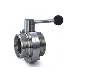High Quality Sanitary Stainless Steel Threaded Butterfly Valve Sfx034 pictures & photos