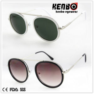 New Coming Fashion Metal Sunglasses with Flat Lenskm15247 pictures & photos