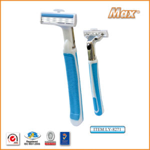 Metal Twin Stainless Steel Blade System Razor for Man (LY-8271) pictures & photos
