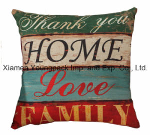 "18""X 18""Home Decorative Custom Printed Cotton Linen Zipper Square Sofa Throw Pillow Covers pictures & photos"