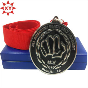 Free Mold Silver Plated Soft Enamel Metal Medal pictures & photos