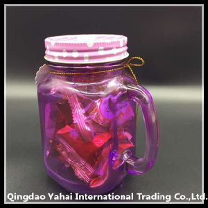 450ml Purple Colored Glass Mason Jar pictures & photos